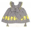 Black Check Top & Daisy Shorts Set