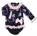 Navy Blue & Pink Knitted Sweater & Corduroy shorts set