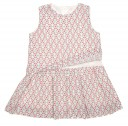 Top & Skirt Effect Geometric Print Dress