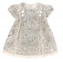 Baby Ivory & Brown Velvet Dress