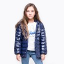 Girls Navy Blue Padded Jacket