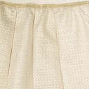 Girls Ivory & Gold Pleated Skirt