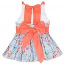 Vestido Niña Vuelo Flamencos Espalda Cruzada Coral