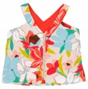 Girls Floral Print Canvas Top