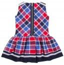 Blue & Red Check Print Dress