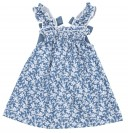 Blue & White Liberty Denim Dress