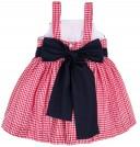 Lappepa Moda Infantil Vestido Niña Vichy Rojo & Volantes Fruncidos en Blanco