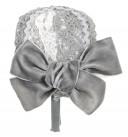 Gray Hairband with Velvet Bow