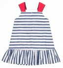 Blue & White Striped Sailor Dress