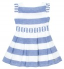 Blue & White Striped Structured Dress
