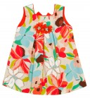 Girls Floral Print Canvas Dress
