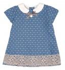 Baby Blue & Beige Speckled Dress