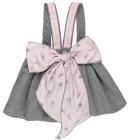 Girls Grey & Pink Deer Print 3 Piece Dress Set