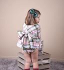 Vestido Niña 2 Piezas Cuadros Verde & Rosa