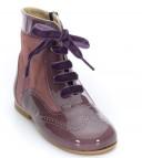 Mauve Patent & Suede Pascuala Boots