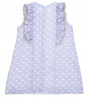 Pale Blue & White Heart Print Dress