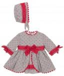 Baby Gray & Red Polka Dot 2 Piece Set
