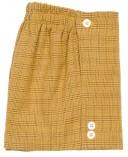 Boys Grey Shirt & Mustard Glen Plaid Shorts Set