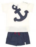 Sailor Anchor T-Shirt & Swim Shorts Set