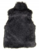 Dark Blue Synthetic Fur Vest with Satn Bow
