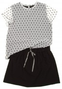 Black Polka Dot Cotton Skirt