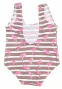 Pink & Chocolate Flamingo Swimsuit