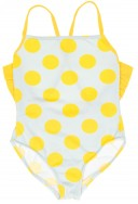 Light Grey & Yello Spotted Swimsuit