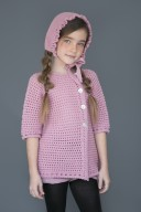 Girls Pale Pink Knitted Cardigan