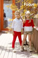 Girls Red & White Sweater