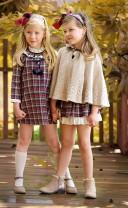 Girls Red & Blue Tartan Skirt