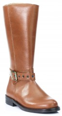 Tan Leather Tall Boots