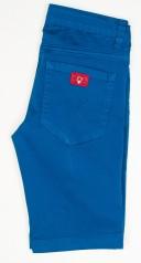 Pantalón Bermuda Niño Algodón Azul