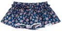 Girls White Unicorn Print T-Shirt & Blue Liberty Ruffle Shorts Set