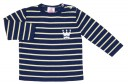 Boys Navy Blue & Yellow Sweater