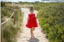 Rochy Vestido Niña Piqué Lunares & Lazo Rojo