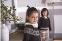 Chocolate & Ivory Fairisle Sweater with Velvet Bow