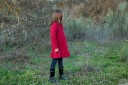 Abrigo Lana Bouclé Rojo Guinda