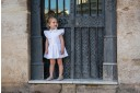 Girls White Cotton Lace Dress with Ruffle Collar