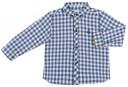 Boys Blue Gingham Shirt & Trousers Set