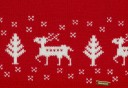 Boys Red & White Reindeer Knitted Sweater