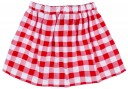 Baby Girls Crab Sequin T-Shirt & Red Checked Skirt Set