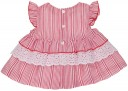 Baby Red Striped Blouse & Short Set with Ruffle