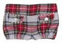 Boys Polka Dot Shirt, Crown Sweater & Checked Wool Shorts Set