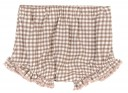 Baby Brown Dog Sweater & Checked Short Set