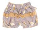 Girls Mustard Fine Knitted Sweater & Floral Ruffle Short Set