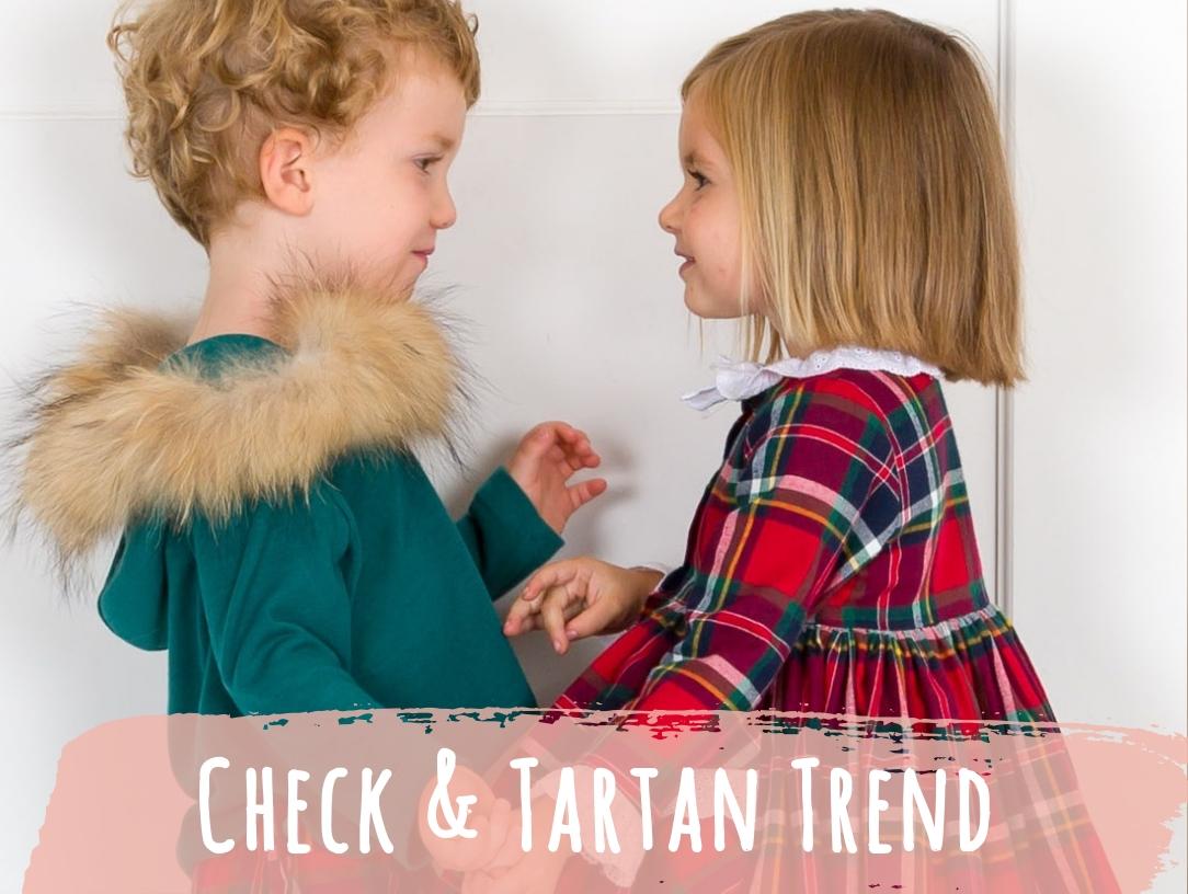 Check and Tartan Trend. New Season. Latest Spanish Designer Kids Fashion