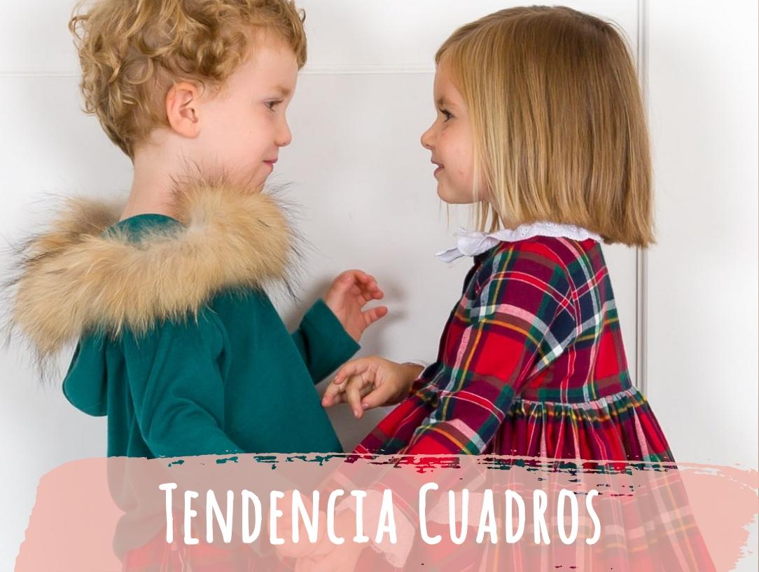 Los cuadros son tendencia en ropa para niños