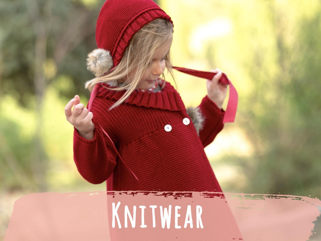Wide range of knitwear including; jumpers, cardigans, sweaters and oversized knits, for babies boys and girls. New Season. Latest Spanish Designer Kids Fashion